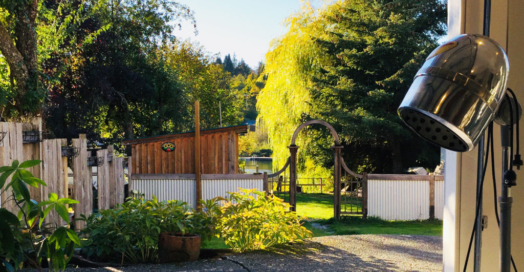 remedy salon backyard cowichan river view